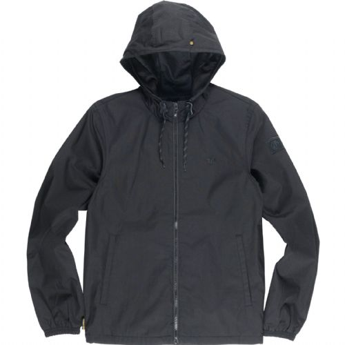 ELEMENT MENS JACKET.NEW ALDER BLACK HOODED COATED CANVAS ZIP UP COAT.7W A6 3732